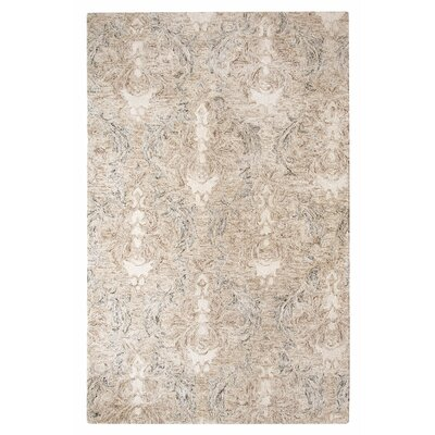 Carrera Damask Stone Area Rug Rug Size: Rectangle 5 x 8