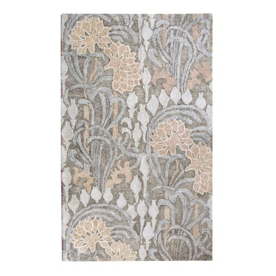 Lotus Pewter Area Rug Rug Size: 3 x 5