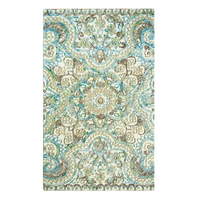 Agra Hand-Tufted Multicolor Area Rug Rug Size: Rectangle 9 x 13