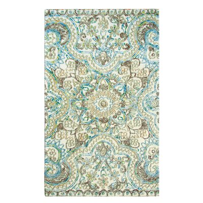 Agra Hand-Tufted Multicolor Area Rug Rug Size: Rectangle 4 x 6