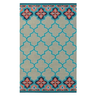 Bandana Grey Area Rug Rug Size: Rectangle 36 x 56