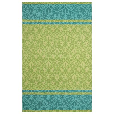 Sheridan Hand-Hooked Green Area Rug Rug Size: 9 x 13
