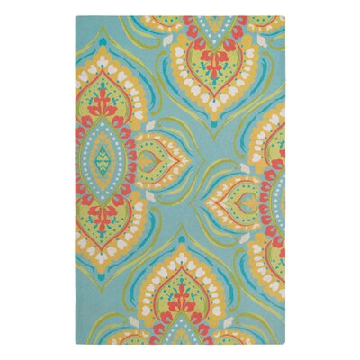 Namaste Aqua Area Rug Rug Size: Rectangle 4 x 6