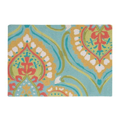 Namaste Aqua Area Rug Rug Size: Rectangle 2 x 3