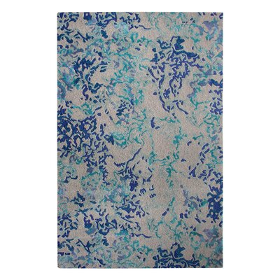 Venetian Blue Iris Area Rug Rug Size: Rectangle 5 x 8