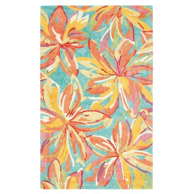 Petaluma Hand-Tufted Orange Area Rug Rug Size: 3 x 5