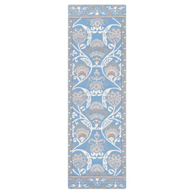 Quinn Hand-Hooked Blue Area Rug Rug Size: Runner 26 x 8