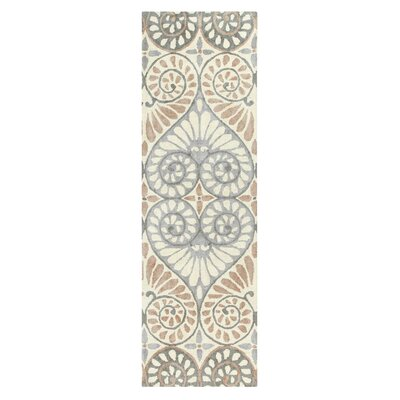 Dew Drop Hand-Tufted Pewter Area Rug Rug Size: Runner 26 x 8