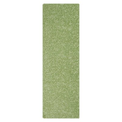 Crackle Hand-Tufted Grass Area Rug Rug Size: Runner 26 x 8