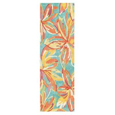 Petaluma Hand-Tufted Orange Area Rug Rug Size: Runner 26 x 8