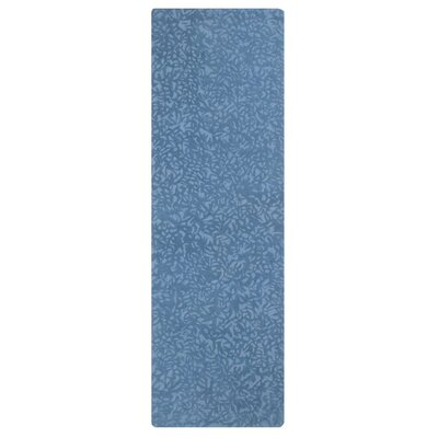 Crackle Hand-Tufted Blue Iris Area Rug Rug Size: Square 1 x 1