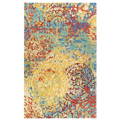Melange Hand-Tufted Yellow Area Rug Rug Size: Square 1 x 1