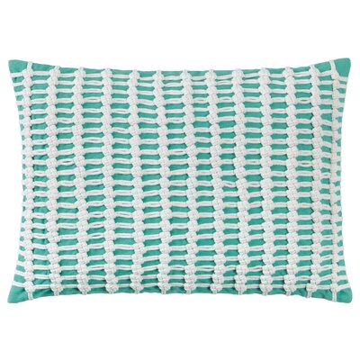 Macrame 100% Cotton Throw Pillow Color: Aqua
