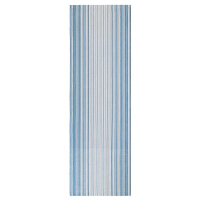 Cirrus Stripe Hand-Woven Blue Indoor/Outdoor Area Rug Rug Size: Runner 26 x 8