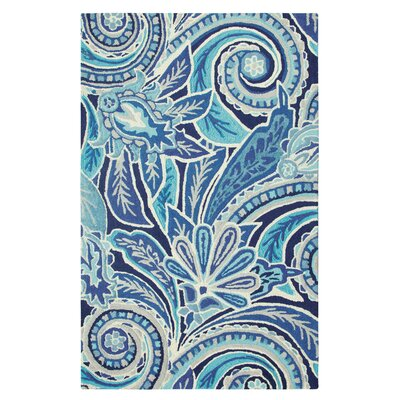 Eden Hand-Tufted Blue Area Rug Rug Size: Rectangle 5 x 8