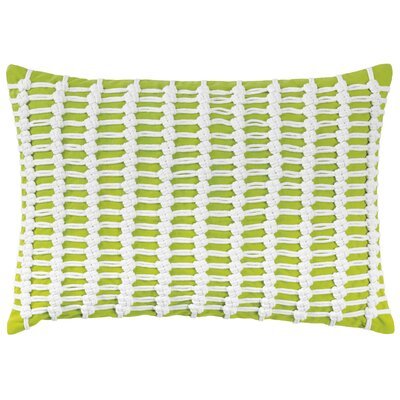 Macrame 100% Cotton Throw Pillow Color: Lime