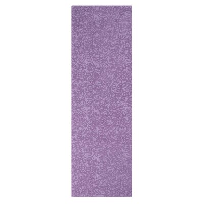 Crackle Hand-Tufted Lavender Area Rug Rug Size: Square 1 x 1