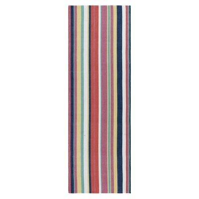 Canopy Stripe Hand-Woven Green Indoor/Outdoor Area Rug Rug Size: Runner 26 x 8