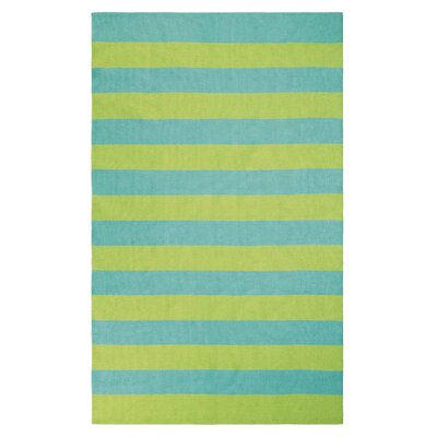 Awning Stripe Hand-Woven Lake Indoor/Outdoor Area Rug Rug Size: 3 x 5