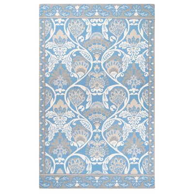 Quinn Hand-Hooked Blue Area Rug Rug Size: Rectangle 8 x 10
