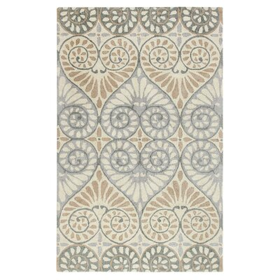 Dew Drop Hand-Tufted Pewter Area Rug Rug Size: 5 x 8