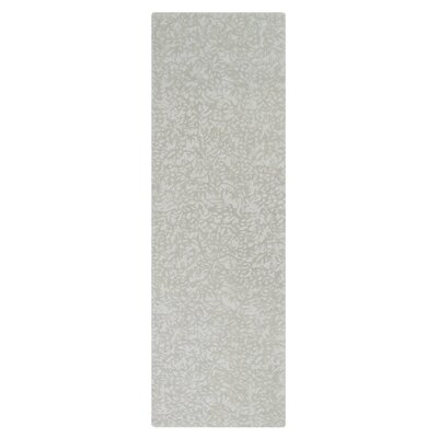 Crackle Hand-Tufted Pewter Area Rug Rug Size: Runner 26 x 8