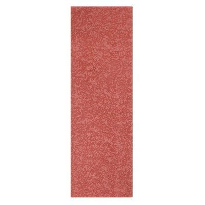 Crackle Hand-Tufted Newport Red Area Rug Rug Size: Square 1 x 1
