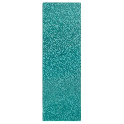 Crackle Hand-Tufted Peacock Area Rug Rug Size: Rectangle 9 x 13