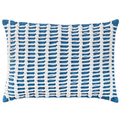 Macrame 100% Cotton Throw Pillow Color: Blue