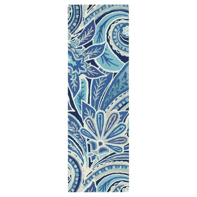 Eden Hand-Tufted Blue Area Rug Rug Size: Runner 26 x 8