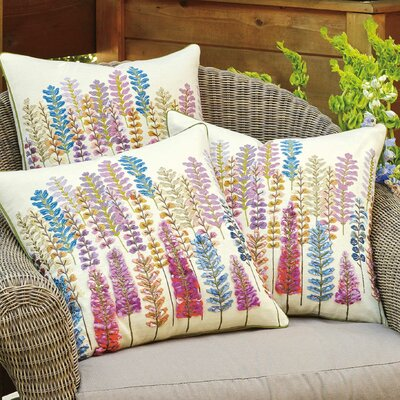 Lupine Cotton Throw Pillow
