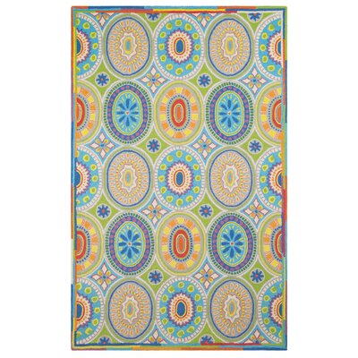High Jinks Blue/Yellow/Green Indoor Area Rug Rug Size: Rectangle 4 x 6