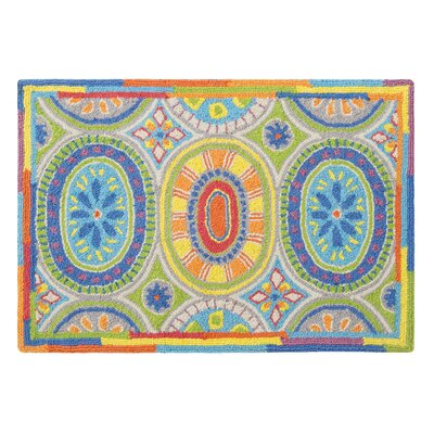 High Jinks Blue/Yellow/Green Indoor Area Rug Rug Size: 2 x 3