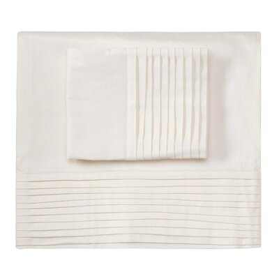 Fountain Sheet Set Color: Ivory, Size: Queen