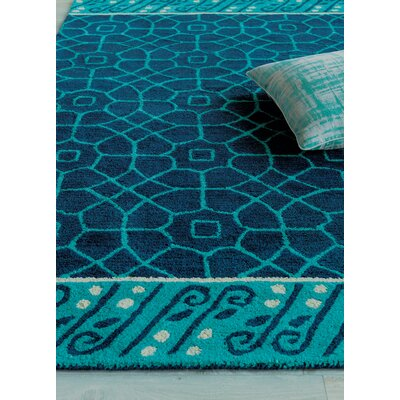 Fortissimo Hand Tufted Navy Area Rug Rug Size: 3 x 5