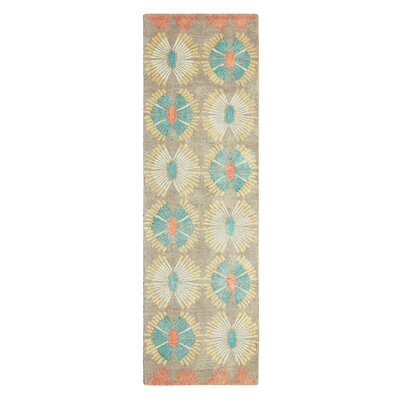 Hadley Hand Hooked Orange/Yellow Area Rug Rug Size: Runner 26 x 8