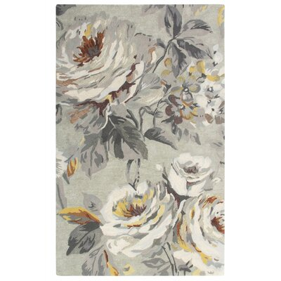 Moonlit Hand Tufted Gray Area Rug Rug Size: 9 x 13