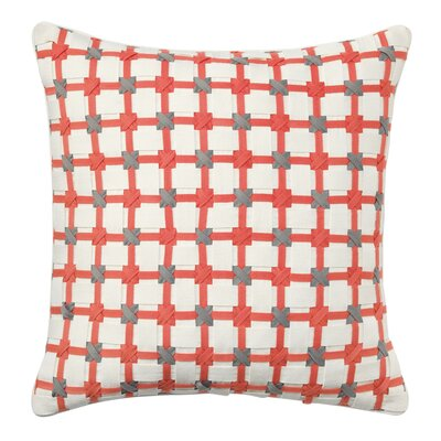 Starboard Cotton Throw Pillow Color: Coral
