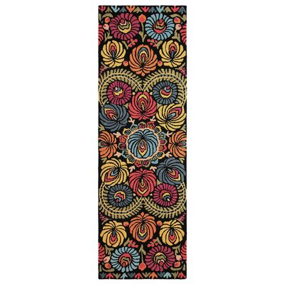 Matyo Hand Tufted Wool Orange/Green Area Rug Rug Size: Runner 26 x 8