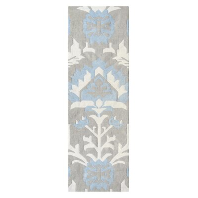 Arabelle Hand Woven Blue Mist Indoor/Outdoor Area Rug Rug Size: Runner 26 x 8