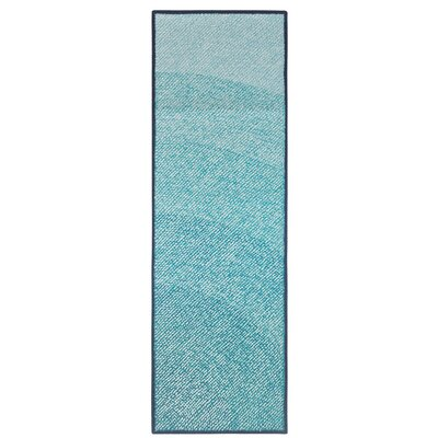 Infinity Hand Hooked Blue Indoor/Outdoor Area Rug Rug Size: Runner 2'6