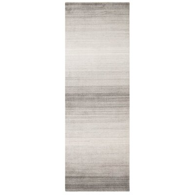 Shadow Hand-Woven Pewter Area Rug Rug Size: Runner 26 x 8