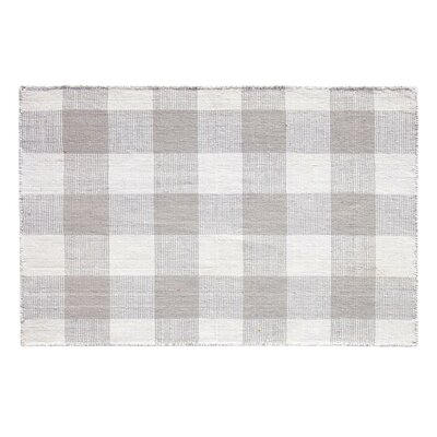Check Please Hand Woven Pewter Indoor/Outdoor Area Rug Rug Size: 2 x 3