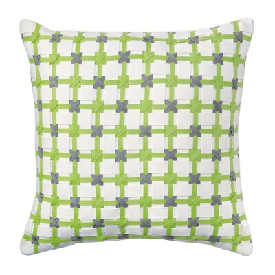 Starboard Cotton Throw Pillow Color: Lime