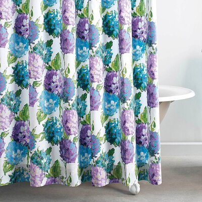 Hydrangea Cotton Shower Curtain