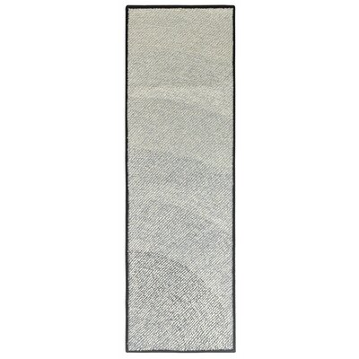 Infinity Hand Hooked Black Indoor/Outdoor Area Rug Rug Size: Runner 2'6