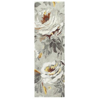 Moonlit Hand Tufted Gray Area Rug Rug Size: Runner 26 x 8