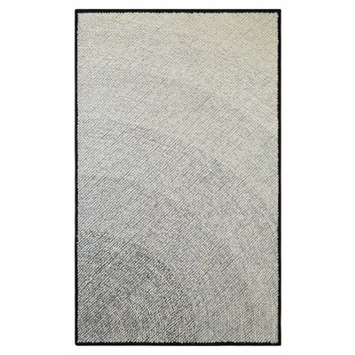Infinity Hand Hooked Black Indoor/Outdoor Area Rug Rug Size: 3'6