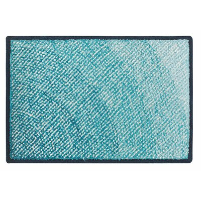 Infinity Hand Hooked Blue Indoor/Outdoor Area Rug Rug Size: 2 x 3