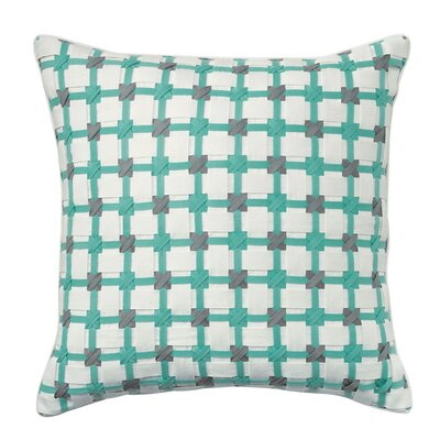 Starboard Cotton Throw Pillow Color: Aqua